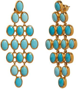 Gurhan Turquoise Chandelier Earring