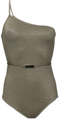 Dvf West Diane Von Furstenberg One-shoulder Metallic Swimsuit