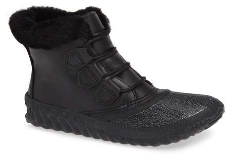 Sorel Out N About Plus Lux Waterproof Boot with Genuine Shearling Trim (Women)