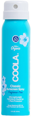 Coola Travel Classic Body Organic Fragrance-Free Sunscreen Spray SPF 50