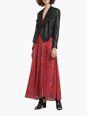 French Connection Stephanie Waterfall Jacket, Black