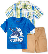 Nannette 3-Pc. Shirt, T-Shirt & Shorts Set, Toddler & Little Boys (2T-7)