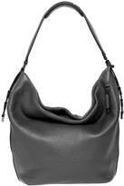 Mackage Declan Leather Hobo Bag With Chevron Detail In Slate