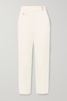 Veronica Beard Renzo Cropped Crepe Slim-leg Pants - Off-white