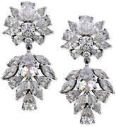 Nina Silver-Tone Cubic Zirconia Drop Earrings