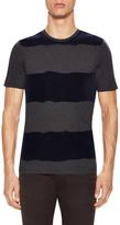 Z Zegna Striped Crewneck Polo Shirt