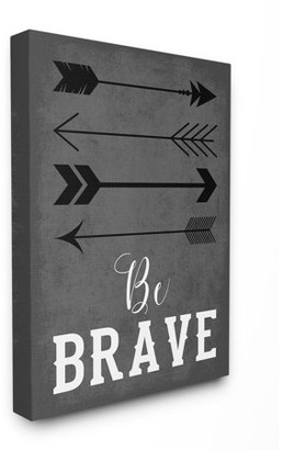 The Kids Room by Stupell Be Brave Arrows Gray Oversized Stretched Canvas Wall Art, 24 x 1.5 x 30