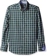 Nautica Men's Classic Fit Wrinkle Resistant Lakeside Plaid Shirt
