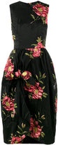 Simone Rocha Floral-Cloqué Gathered Dress - women - Cotton/Polyamide/Polyester - 8