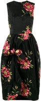Simone Rocha Floral-Cloqué Gathered Dress - women - Cotton/Polyamide/Polyester - 8