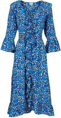 Felicity Dress- Royal Blue Swirl
