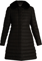 Moncler Gamme Rouge Detachable fur-collar quilted cashmere-blend coat