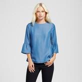 Alison Andrews Women's Chambray Bell Sleeve Top - Alison Andrews Denim Blue