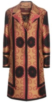 Etro Printed Wool-blend Jacquard Coat
