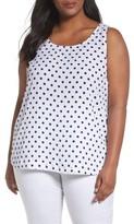 Foxcroft Plus Size Women's Mia Polka Dot Tank