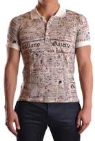 Galliano Men's Multicolor Cotton Polo Shirt.