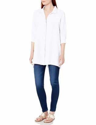 Foxcroft Women's 3/4 Sleeve Skye Chambray Linen Tunic