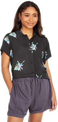 Hurley Getaway Printed Short Sleeve (Lilac Ice) Women's Clothing