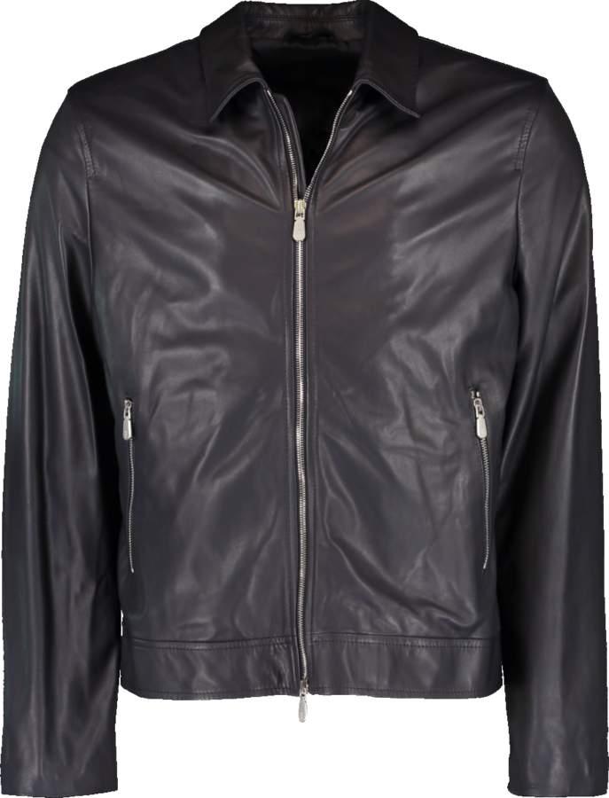 6cb3077d5 Zip Front Leather Jacket