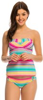 Hobie Salt Air Stripe Bandeau Tankini Bikini Top 8140330