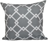 16 in. x 16 in. Chain Link Geometric Pillow in Grey