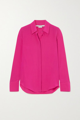 Stella McCartney Willow Silk Crepe De Chine Shirt - Pink