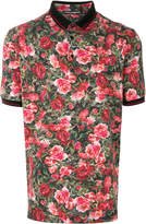 Dolce & Gabbana floral short-sleeve polo shirt