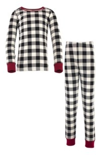 Touched by Nature Big Girls and Boys Plaid Tight-Fit Pajama Set, Pack of 2