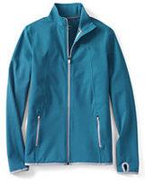 Lands' End Women's Petite Active Knit Jacket-Aqua Lagoon