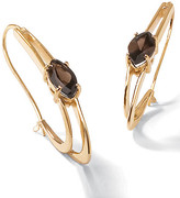 Smoky Quartz 18k/SS Earrings