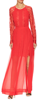 Temperley London Kiri Mae Lace Top Gown