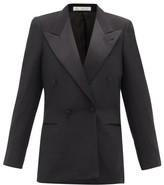 Umit Benan B+ - Double-breasted Satin-lapel Twill Tuxedo Jacket - Womens - Black