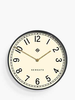 Newgate Clocks Large Wall Clock, Dia.60cm, Grey/Brass