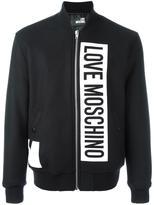 Love Moschino logo print bomber jacket