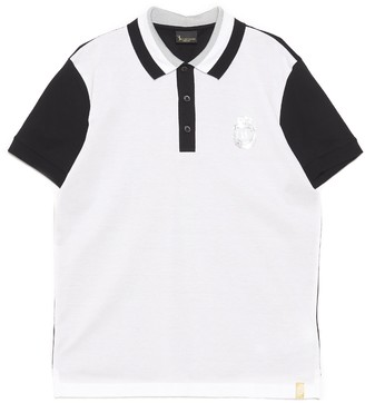 Billionaire Logo Two-Tone Polo Shirt