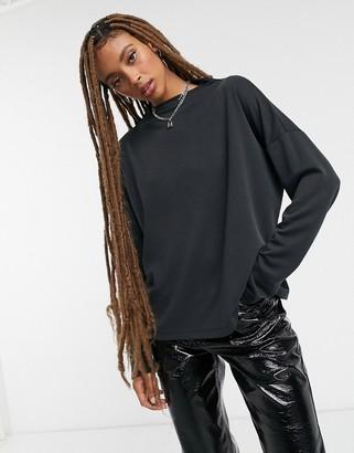 Vila high neck sweatshirt in black