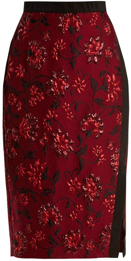 Altuzarra Sandrin floral-brocade pencil skirt