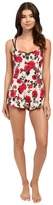 Betsey Johnson Stretch Crepe Teddy