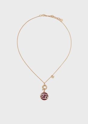 Emporio Armani Women'S Cancer Rose Gold-Tone Sterling Silver Pendant Necklace