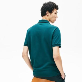 Lacoste Men's LIVE Striped-Collar Cotton Pique Polo Shirt