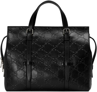 Gucci GG embossed tote bag