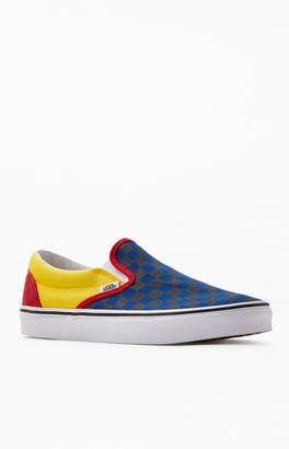 Vans Navy & Red OTW Rally Classic Slip-On Shoes