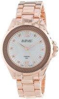 August Steiner Women's AS8064RG Genuine Diamond Mother-Of-Pearl Bracelet Watch