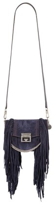Givenchy Small Suede Fringed Gv3 Cross Body Bag
