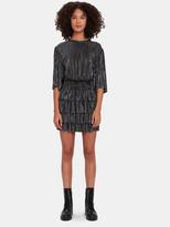 IRO Cuzco Pleated Metallic Blouson Dress