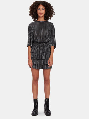 IRO Cuzco Pleated Metallic Blouson Dress
