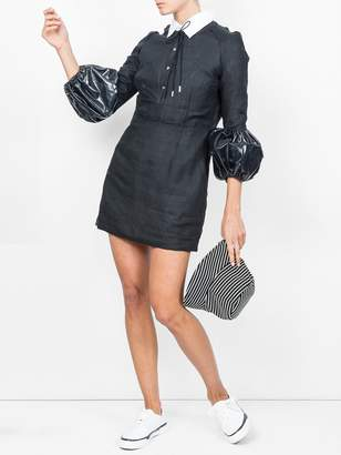 J.W.Anderson puff sleeve mini dress black