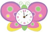 Trend Lab Butterfly Wall Clock in Pink/Green