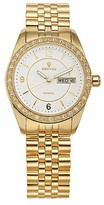 Croton Women's Goldtone Watch with Brass Band - Gold