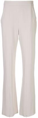 BURNETT NEW YORK High-Waisted Front Slit Trousers
